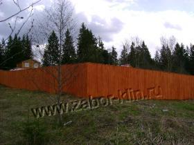 """Забор """"Сплошной"""" из дерева"""