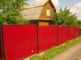 Забор из профнастила с открытыми опорами